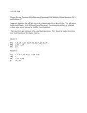 Chapter 1,2 questions fall 2014-1