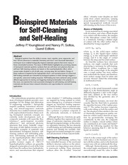 bioinspired materials for self-cleaning and self-healing