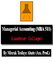 3 Managerial Accounting