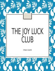 joy luck club study notes The joy luck club is a 1989 novel written by amy tan it focuses on four chinese  american  together with all her belongings, along with a note asking anyone  who might  amy tan discusses the joy luck club on the bbc world book  club teacher's guide at random house the joy luck club study guide,  themes,.
