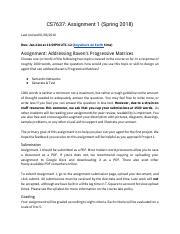 CS7637_ Assignment 1 (Spring 2018) pdf - CS7637 Assignment 1(Spring