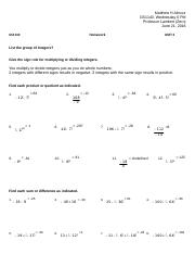 GS1140_INTEGERS Homework 3