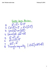 Review vector laws