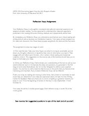 ARTH 292 Reflection Essay assignment-1.pdf