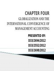 Group 4-Globalisation and the international convergence of management accounting