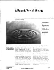 A Dynamic View of Strategy - Markides.pdf