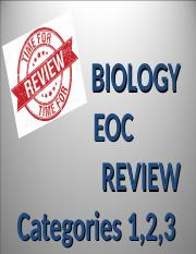 BIOLOGY EOC REVIEW CATEGORIES 1,2,3 POWERPOINT
