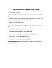 Chapt 6 Study Guide