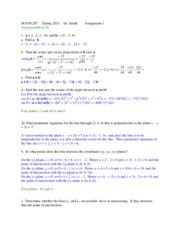 MATH 207 Spring 2015 Solution 1