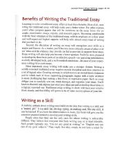 Benefits of Writing the Traditional Essay