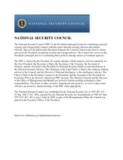 National Security Council Information