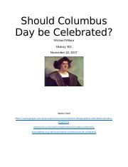 Should Columbus Day be Celebrated.docx