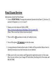 microsoft word final exam review final exam review information