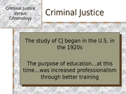 Lecture 6 - Criminal Justice