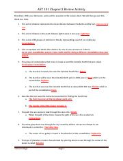 AST 101 Review Sheet 1 Answers.docx