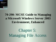 Chp05 - Managing File Access