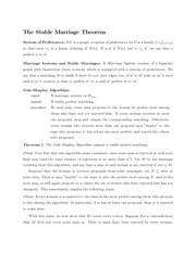 Math 345 Stable Marriage Theorem Notes