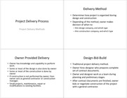 Lecture 5 Notes-Project Delivery Processs