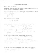 Exam 1 Solutions Spring 2006