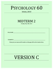 Midterm 2 - Version C