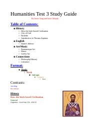 Official Test 3 Humanities Study Guide.docx