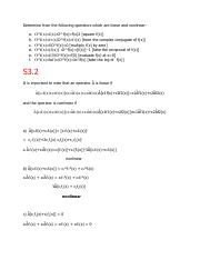 Determine from the following operators which are linear and nonlinear.pdf