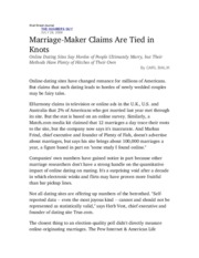 Marriage-maker claims