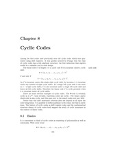 Chapter 8 Cyclic Codes