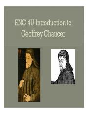 intro to chaucer