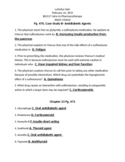 Essentials of Pharmacology for Health Professions week 7 assignment