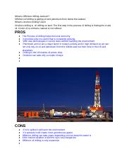 Oil drilling pros/cons