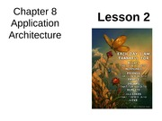 Chap08 Lesson2 Application Architecture
