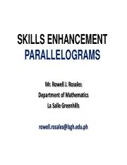 SKILLS ENHANCEMENT PARALLELOGRAM PDF