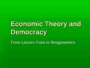 Economic Theory and Democracy