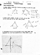 Worksheets Geometry Honors Worksheets honors geometry chapter 2 worksheet 1 pages congruent triangles worksheet
