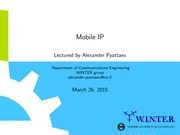 lect9 Mobile IP