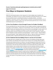 Five Ways to Empower Students.docx