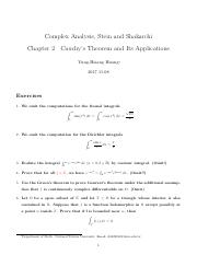 Stein-Shakarchi Complex Analysis Solution Chapter 2 Cauchy's Theorem and Its Applications.pdf
