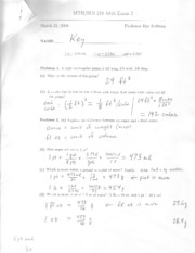 Past Exam #2 Solutions