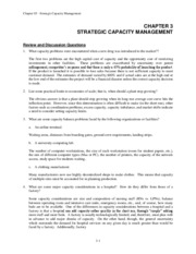 Chapter 3 Capacity Mgmt Problem Solutions Fall 2011