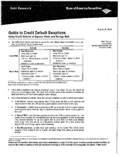 Guide to Credit Default Swaptions