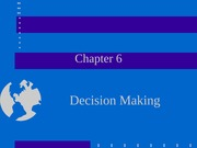 Chapter 6. Decision Making