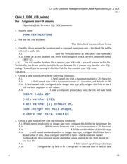 CS 2240 - 2 SQL - Quiz 1 - DDL (for students)