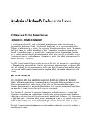 Analysis of Ireland's Defamation Laws.docx
