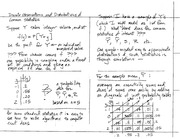 Stat 531 Discrete Observations and Distributions of Common Statistics Notes