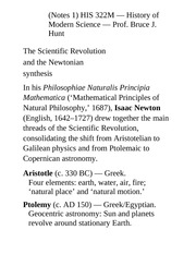 Book Notes 2 Exam-SciRev-Newtonian Synthesis(1)