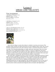 L8-Speed and Velocity