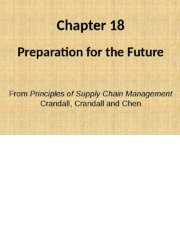 Chapter 18  SC Future supply chains PSCM2E