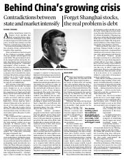 CHINA CONTRADICTION BETWEEN STATE AND MARKET INTENSIFY