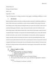 Importance of Writing Conventions Essay